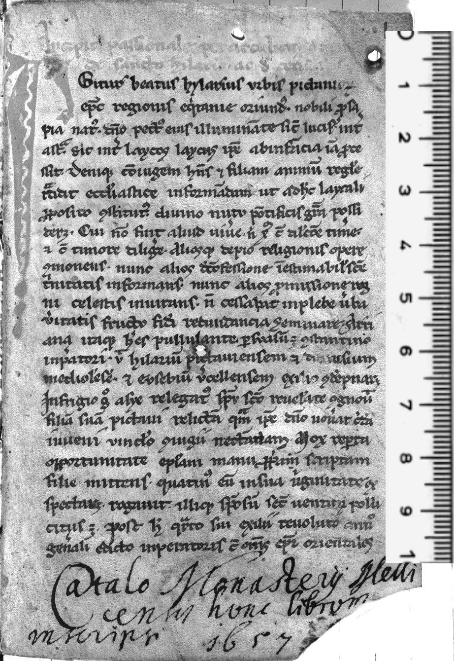 Codex 1277, abbaye de Melk, Autriche, folio 1, 13ème siècle
